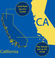 California 3d info graphic vector