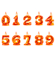 Birthday candle as numbers vector