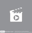 Slate board symbol of cinema vector
