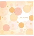 Fabric circles abstract frame pattern background vector