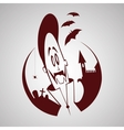 Cartoon vampire halloween character vector
