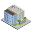 Hotel building isometric vector