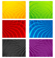 Colorful wavy line backgrounds vector