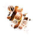 Abstract wild decoration vector