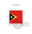 East timor flag postage stamp vector
