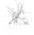 Gray ink splash vector