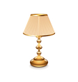 Table lamp isolated vector