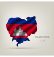 Flag of cambodia as a country vector
