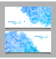 Abstract watercolor blue banners vector