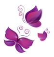 Set of flying shiny butterflies vector