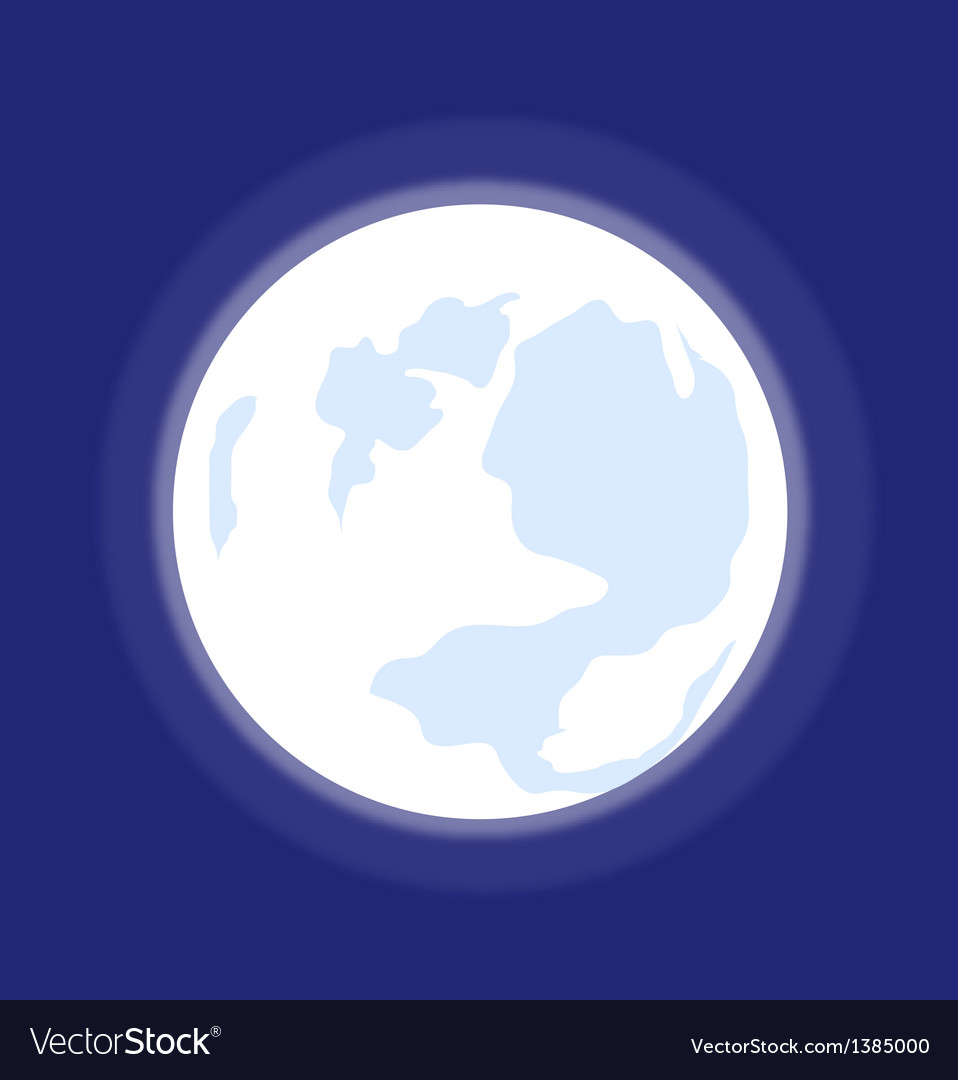 A view of a moon vector | Price: 1 Credit (USD $1)