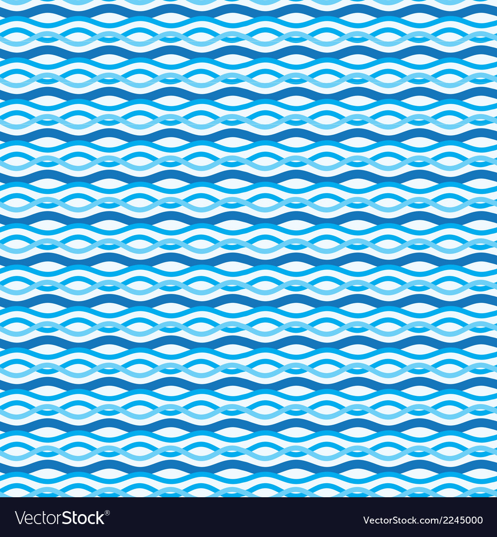 Abstract wavy sea background ocean waves texture vector | Price: 1 Credit (USD $1)