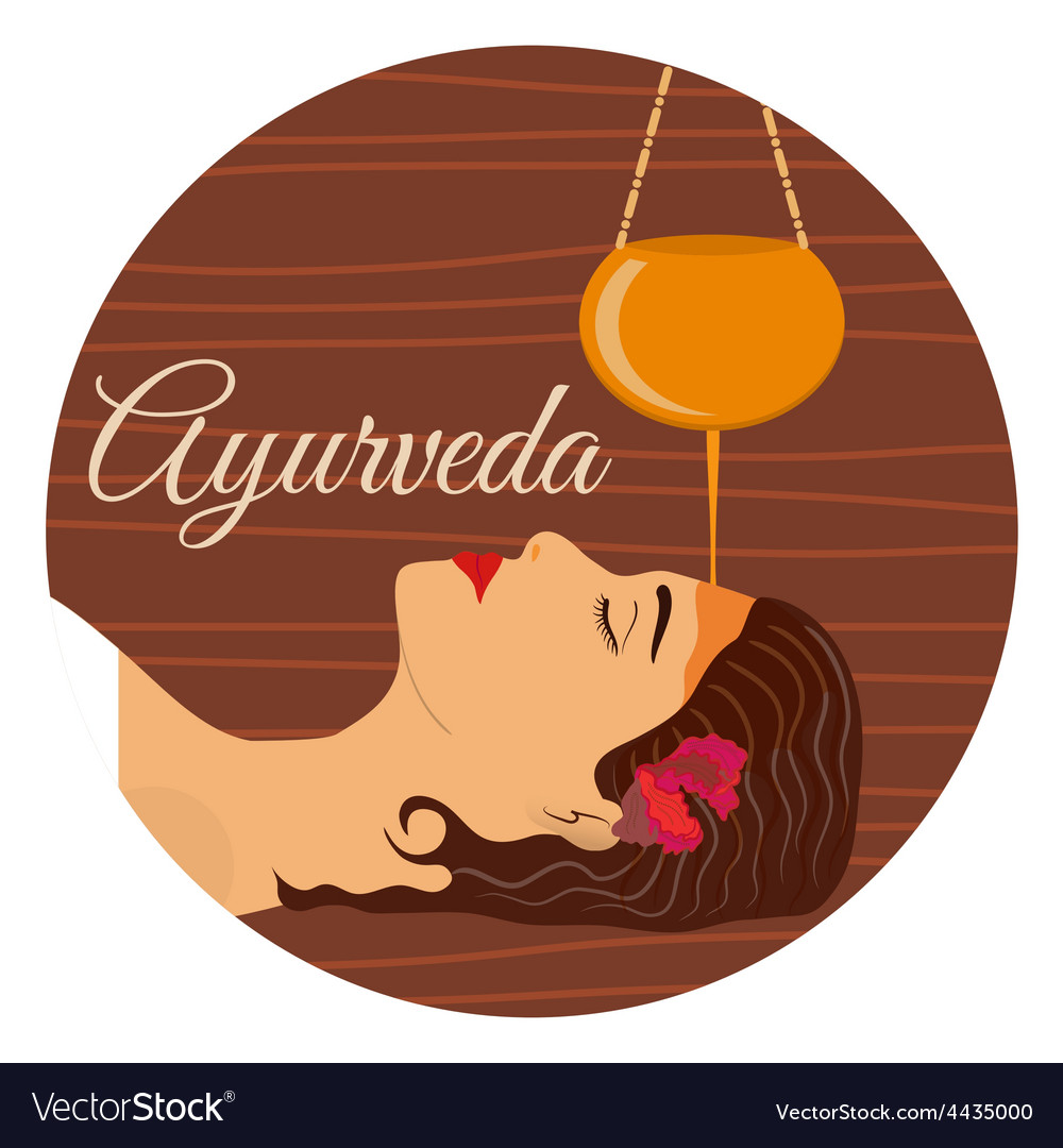 Ayurveda ayurvedic treatment vector | Price: 1 Credit (USD $1)