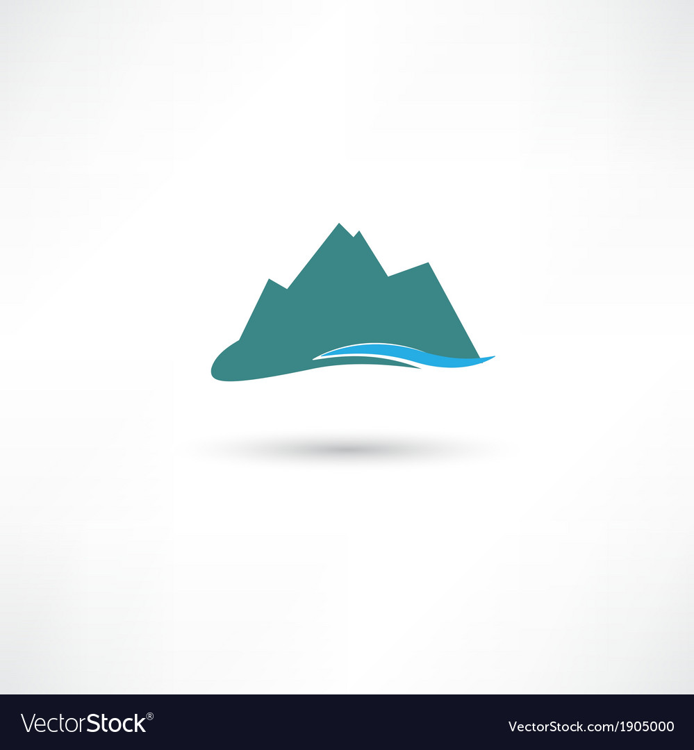 Blue mountains symbol vector | Price: 1 Credit (USD $1)