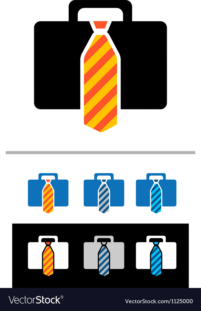 Briefcases icons vector | Price: 1 Credit (USD $1)