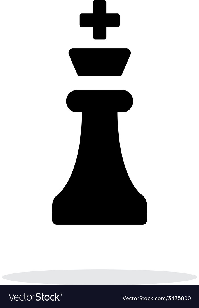 Chess king simple icon on white background vector | Price: 1 Credit (USD $1)