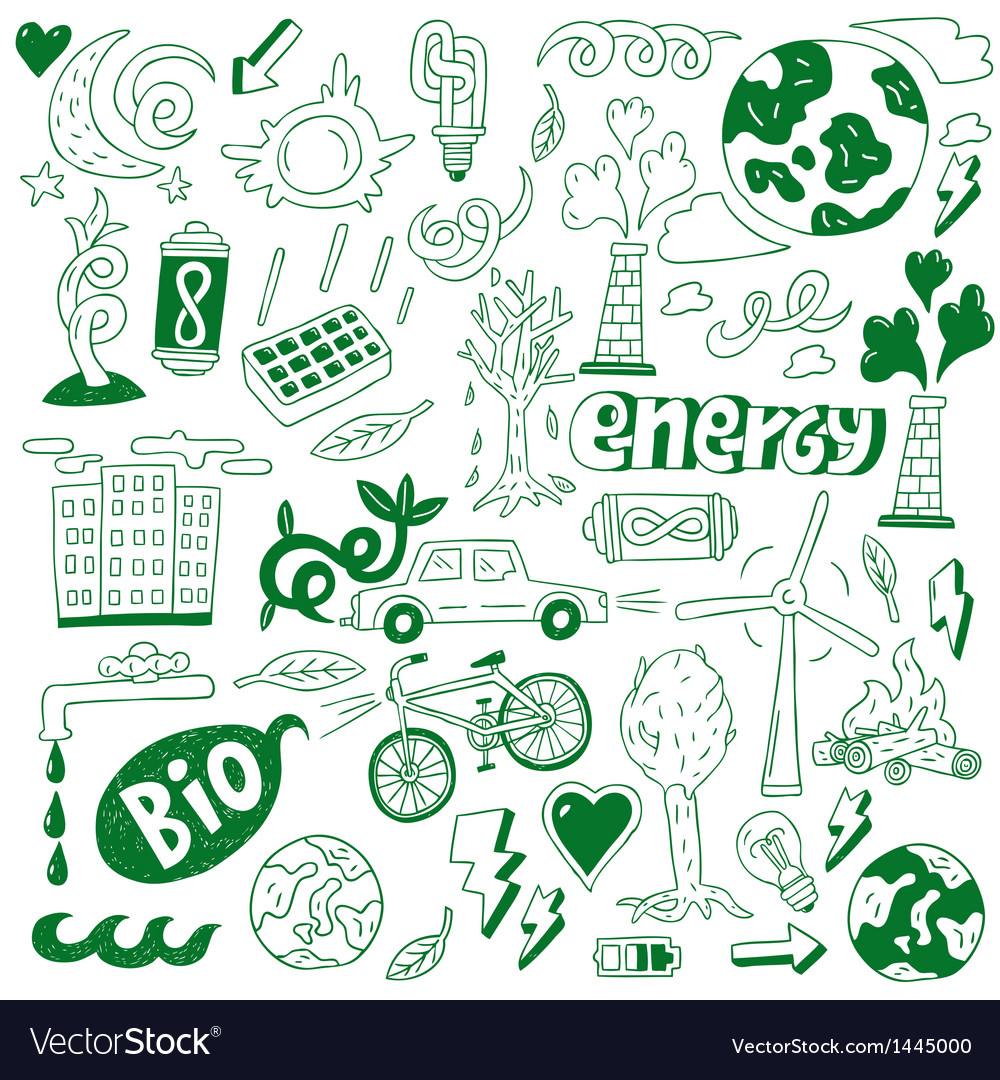 Ecology - doodles collection vector | Price: 1 Credit (USD $1)