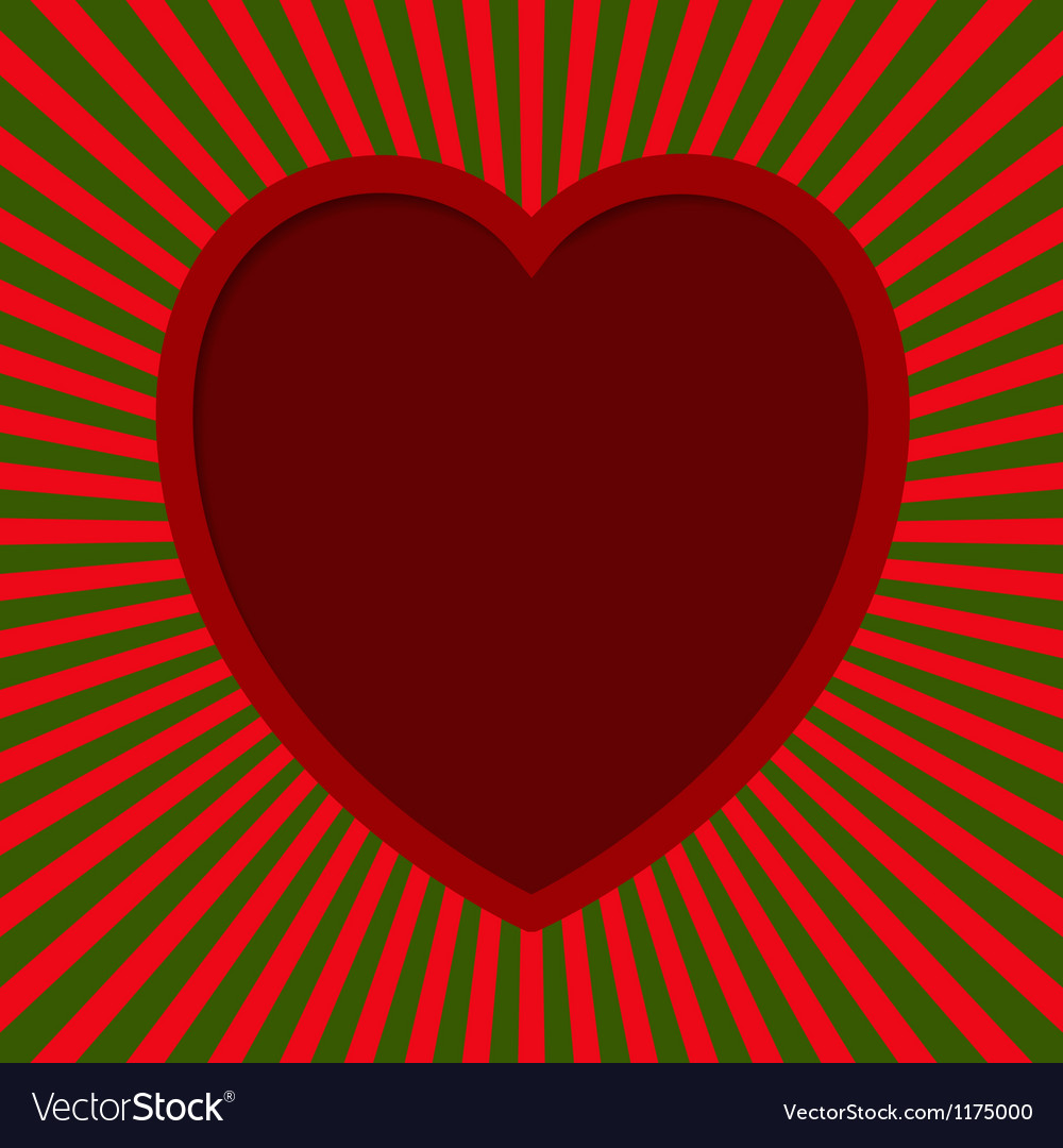 Heart with beams vector | Price: 1 Credit (USD $1)