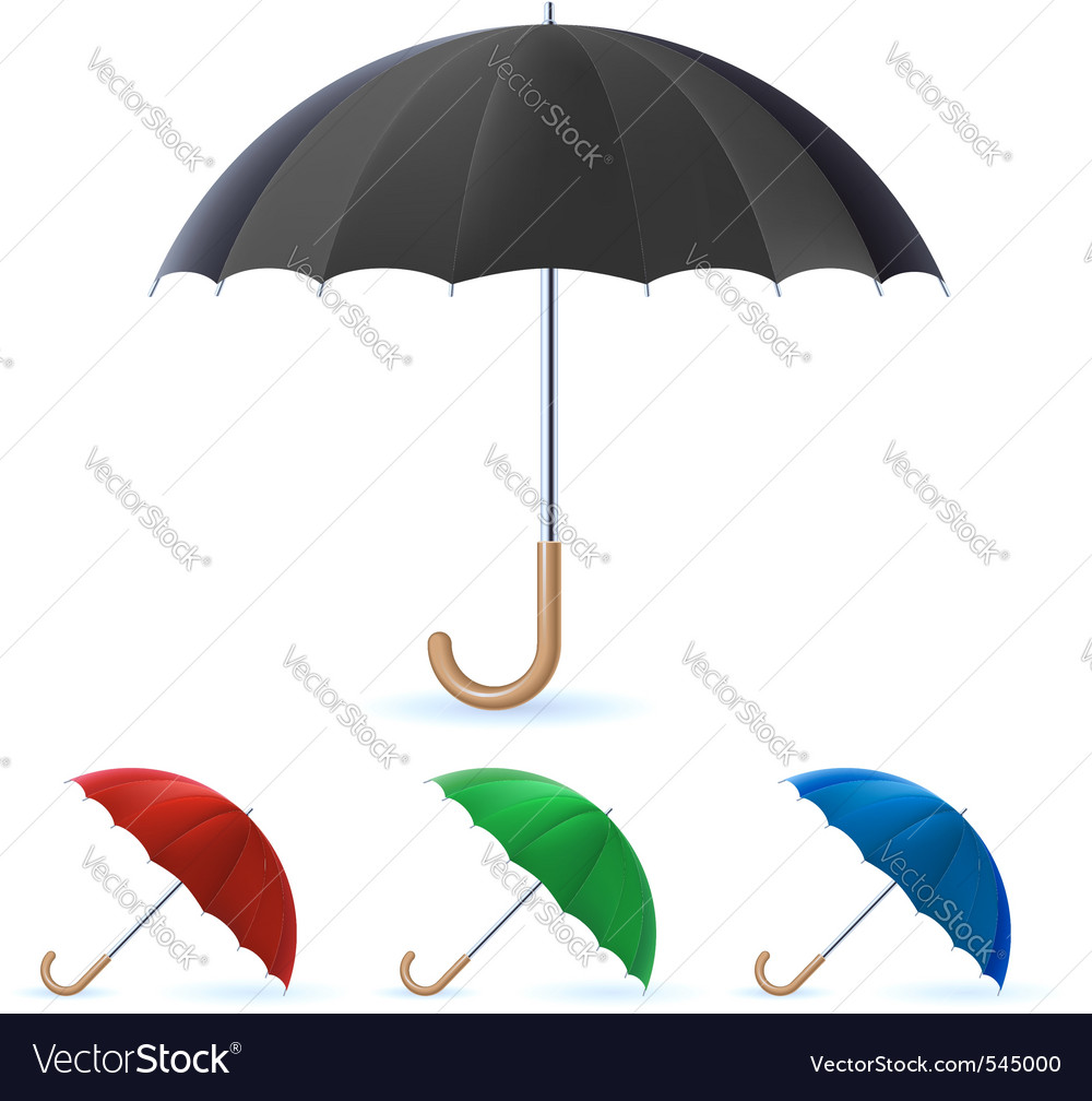 Realistic umbrella vector | Price: 1 Credit (USD $1)
