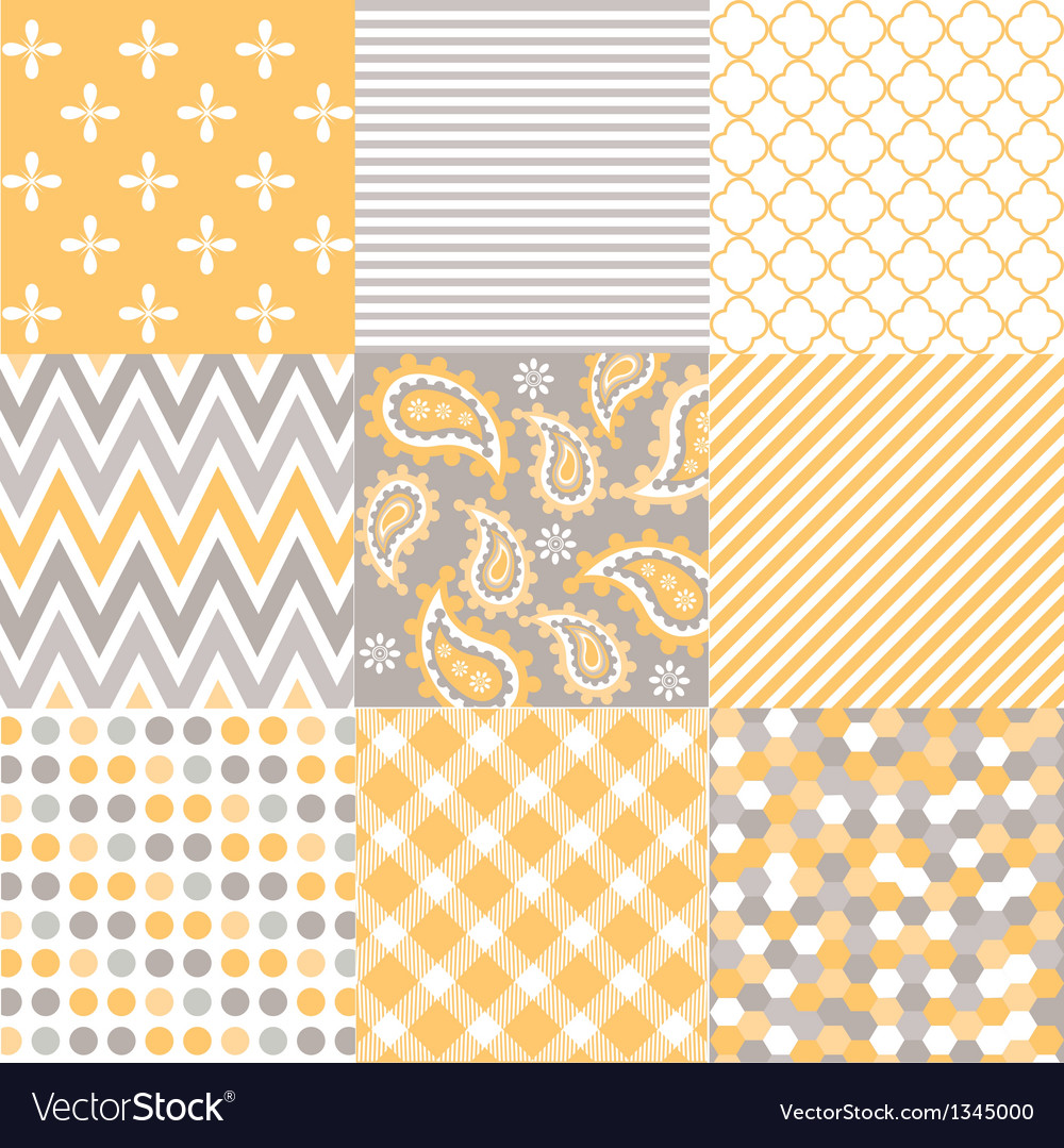 Seamless patterns with fabric texture vector | Price: 3 Credit (USD $3)