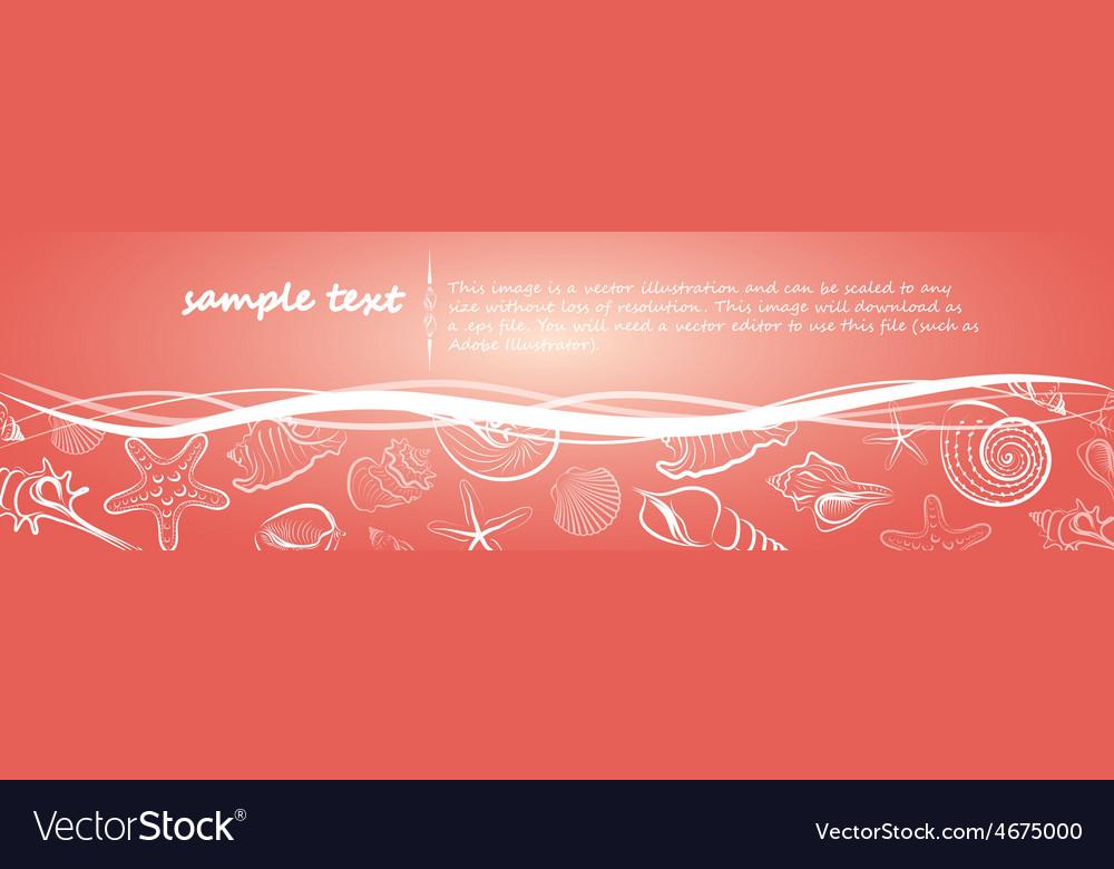 Seashell card4 vector | Price: 1 Credit (USD $1)
