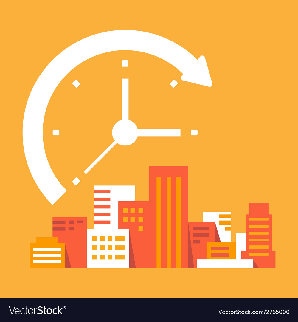 Time goes on in the city vector | Price: 1 Credit (USD $1)