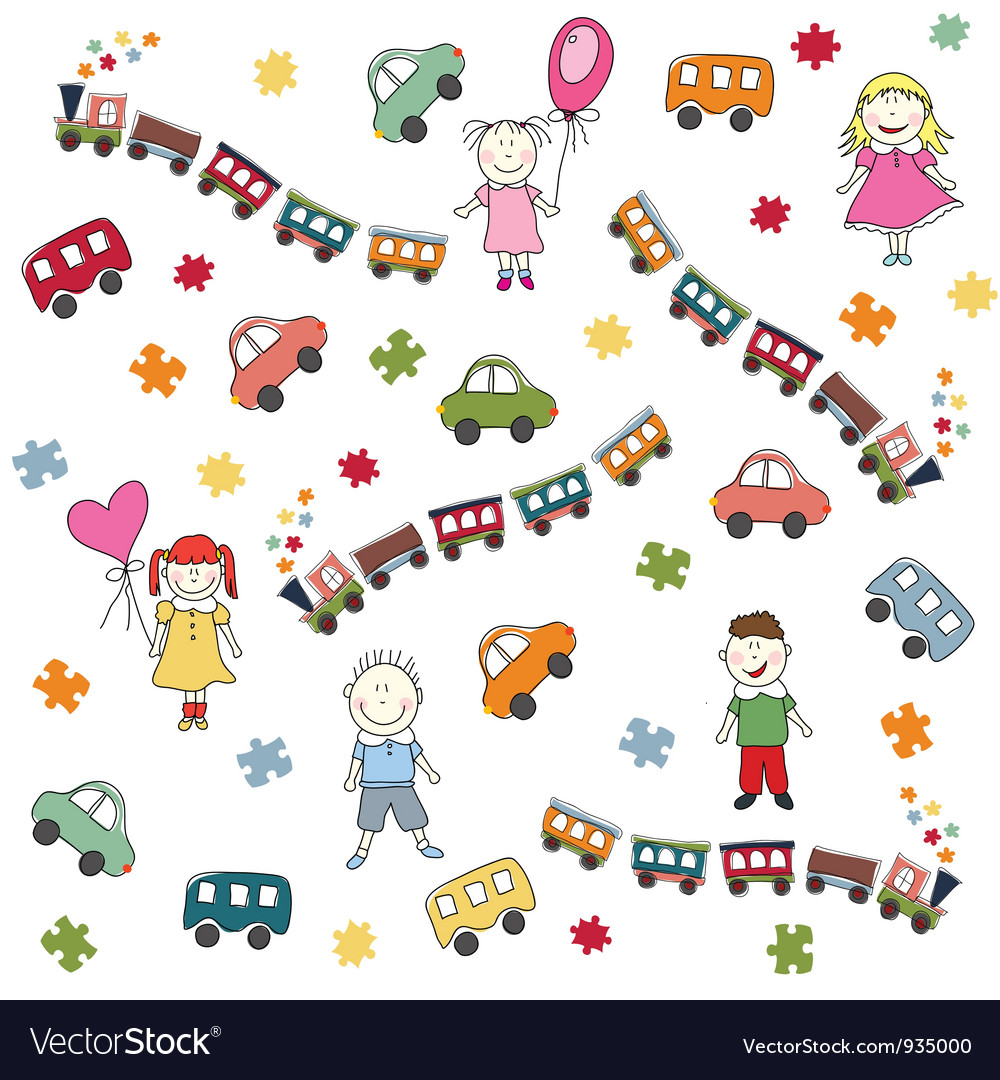 Toys pattern vector | Price: 1 Credit (USD $1)