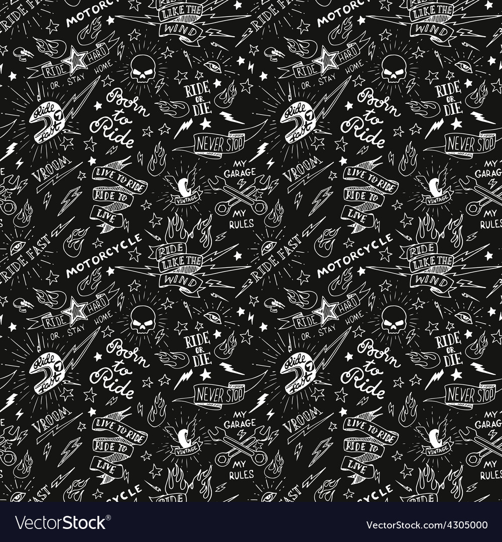 Traditional tattoo biker pattern vector | Price: 1 Credit (USD $1)
