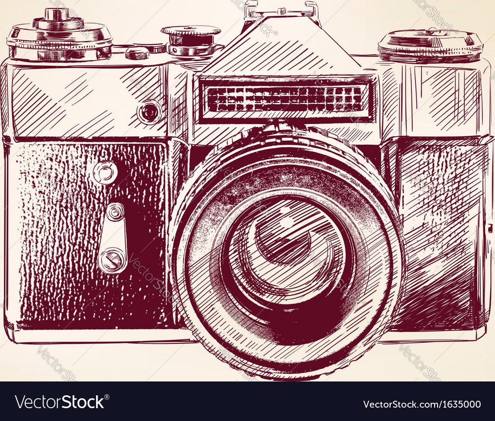 Vintage old photo camera llustration vector | Price: 1 Credit (USD $1)