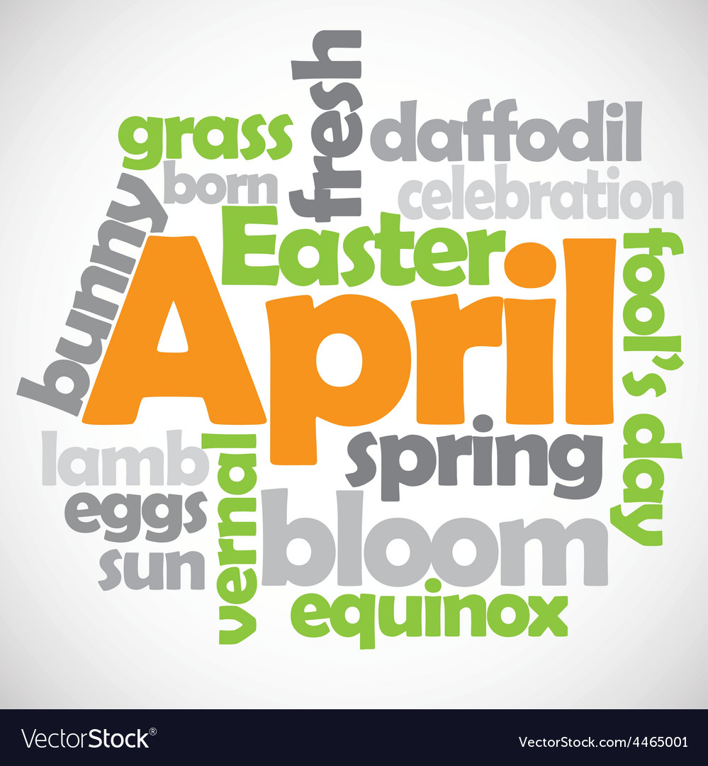 April text vector | Price: 1 Credit (USD $1)