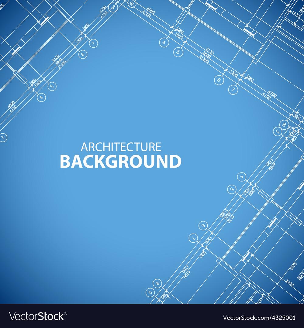 Blueprint building print vector | Price: 1 Credit (USD $1)