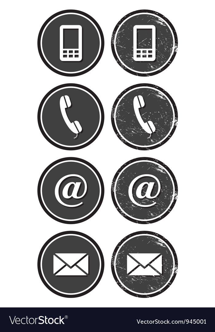 Contact web and internet retro icons set vector | Price: 1 Credit (USD $1)