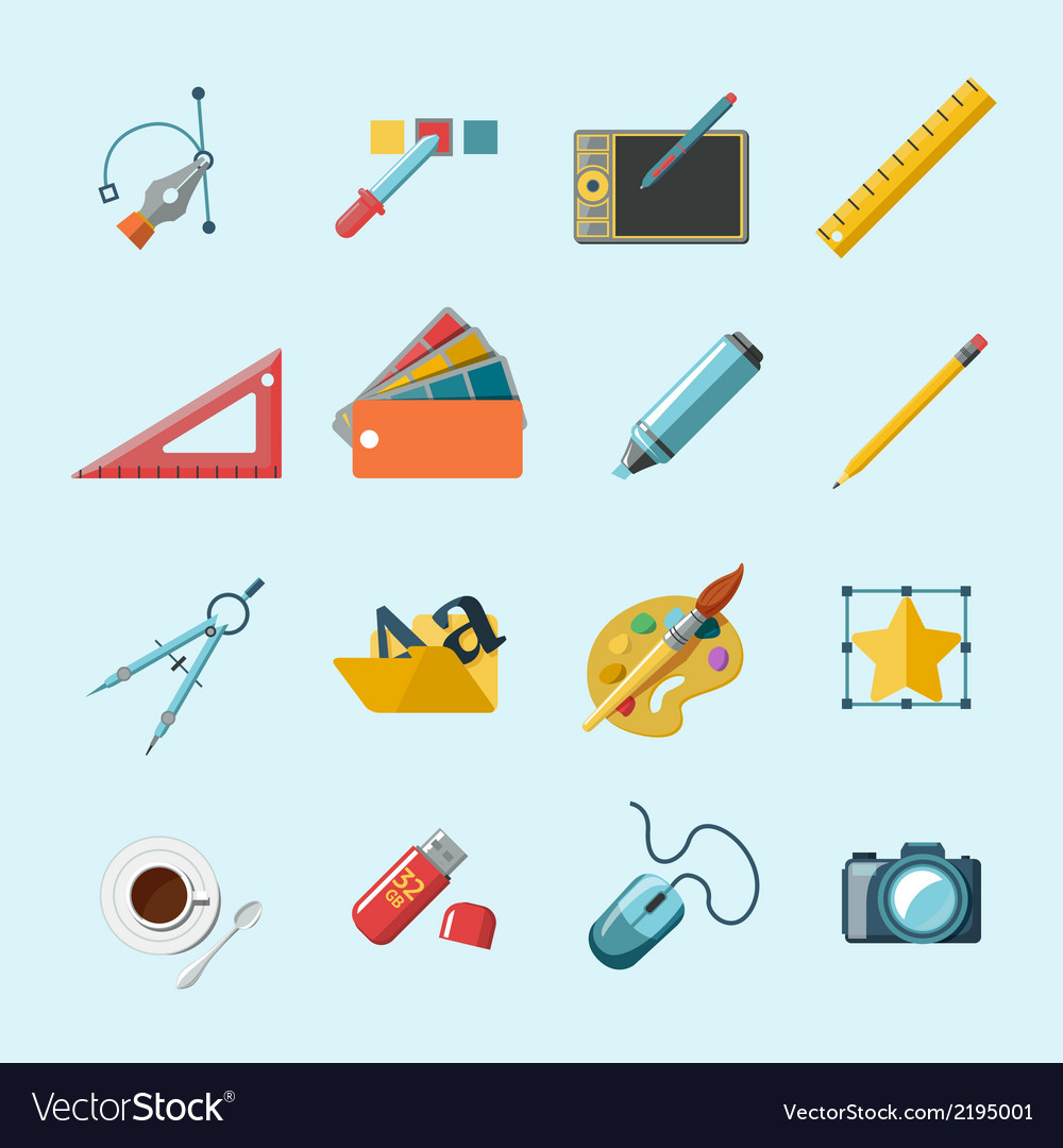 Designer tools icons vector | Price: 1 Credit (USD $1)
