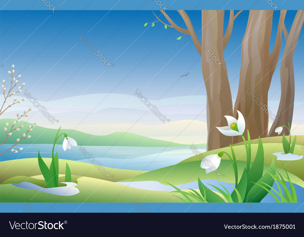 Early spring vector | Price: 3 Credit (USD $3)