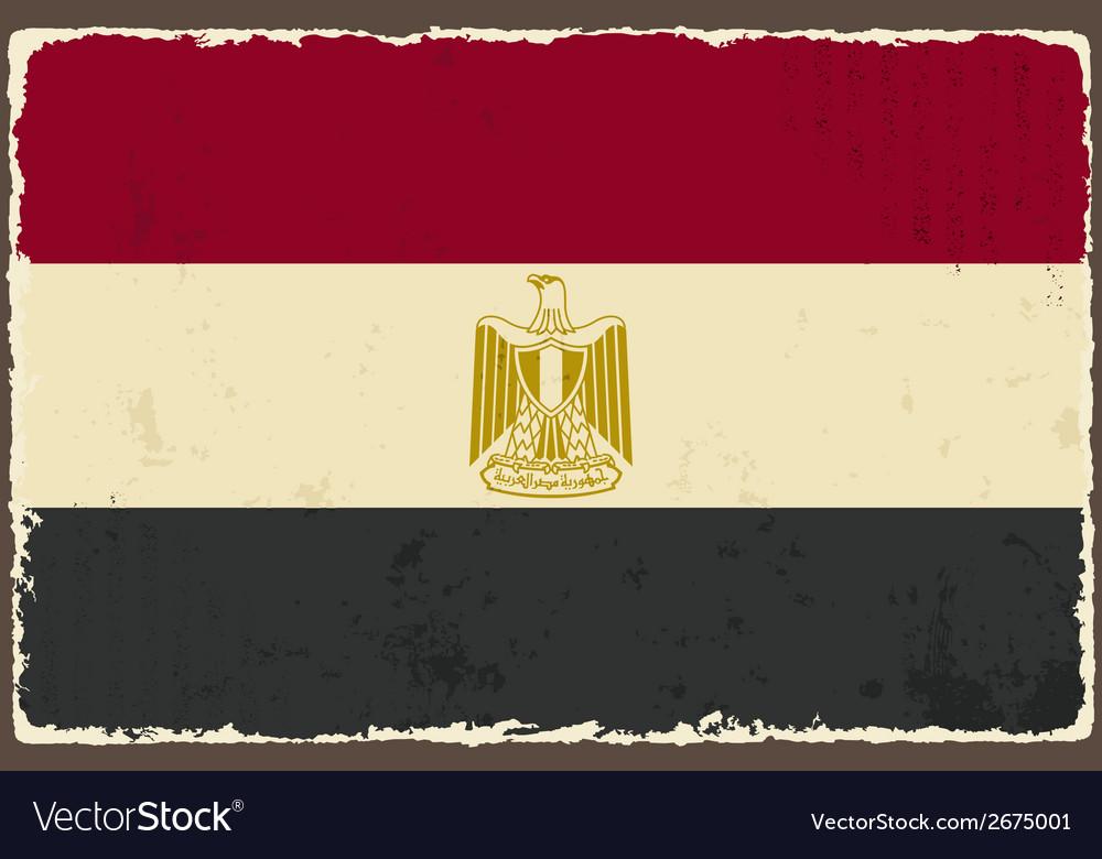 Egyptian grunge flag vector   Price: 1 Credit (USD $1)
