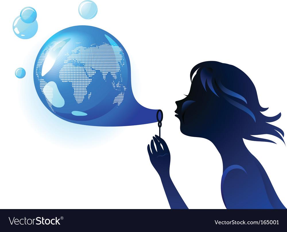 Globe bubble vector | Price: 1 Credit (USD $1)