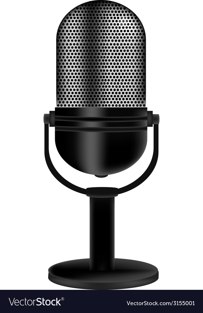 Microphone retro vector | Price: 1 Credit (USD $1)