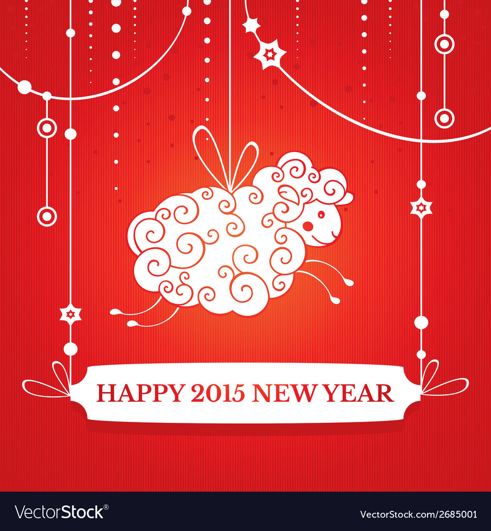 New year greeting card vector | Price: 1 Credit (USD $1)