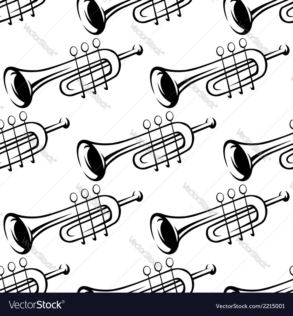 Seamless pattern of trumpets vector | Price: 1 Credit (USD $1)