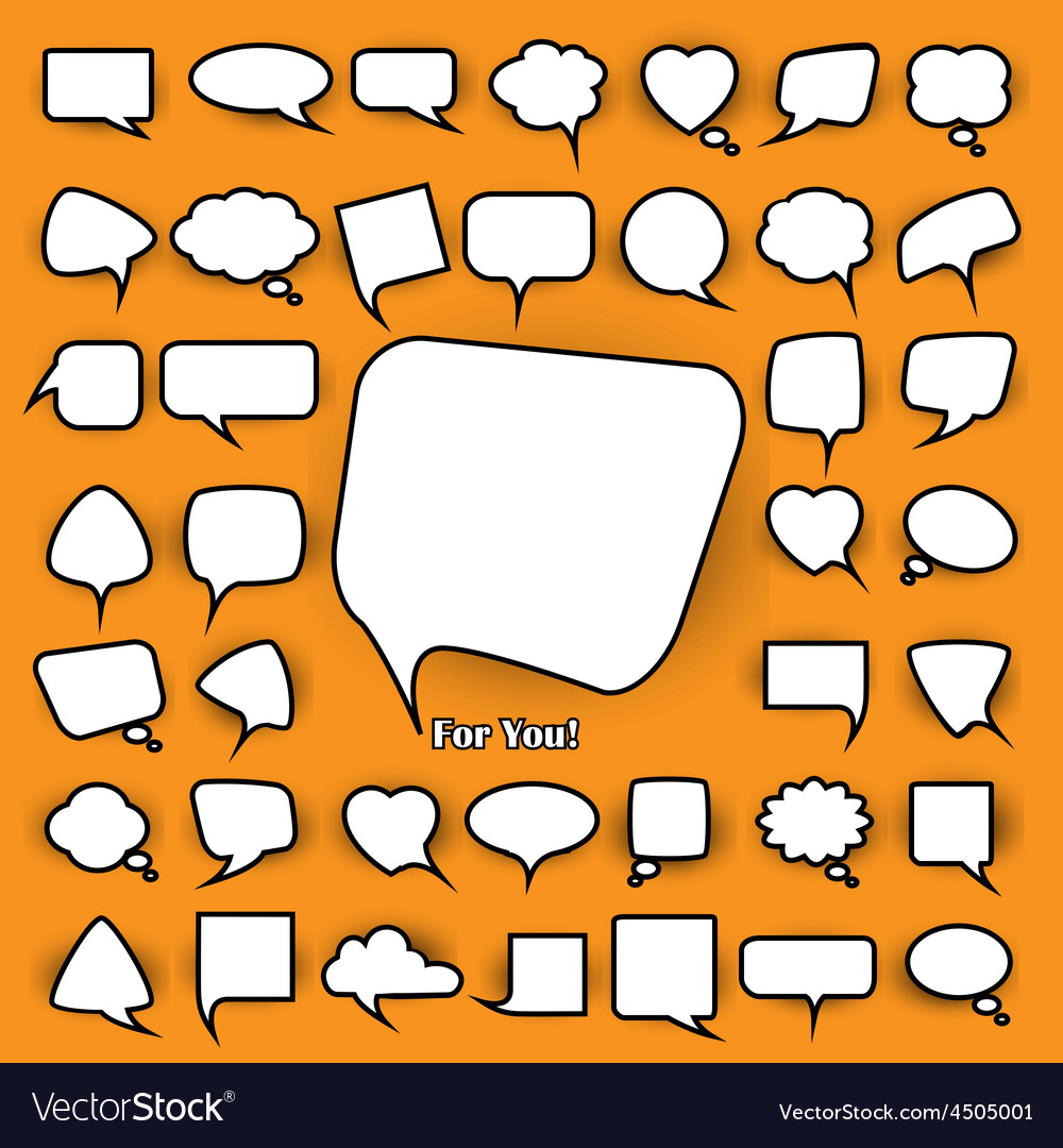 Set of chat bubbles vector | Price: 3 Credit (USD $3)