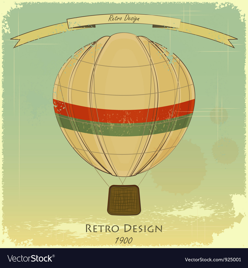 Vintage balloon vector | Price: 3 Credit (USD $3)