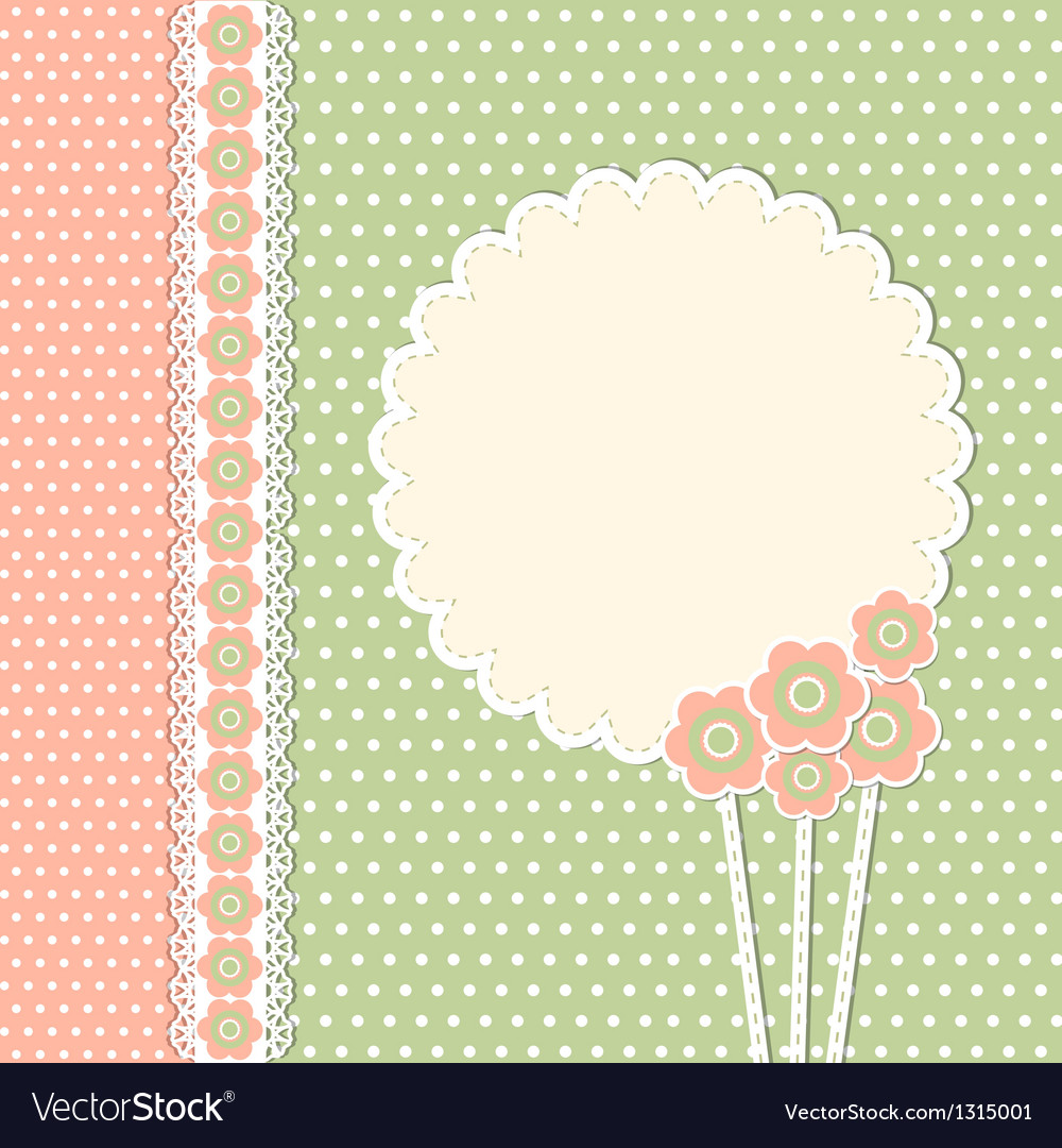 Vintage template with flowers vector | Price: 1 Credit (USD $1)