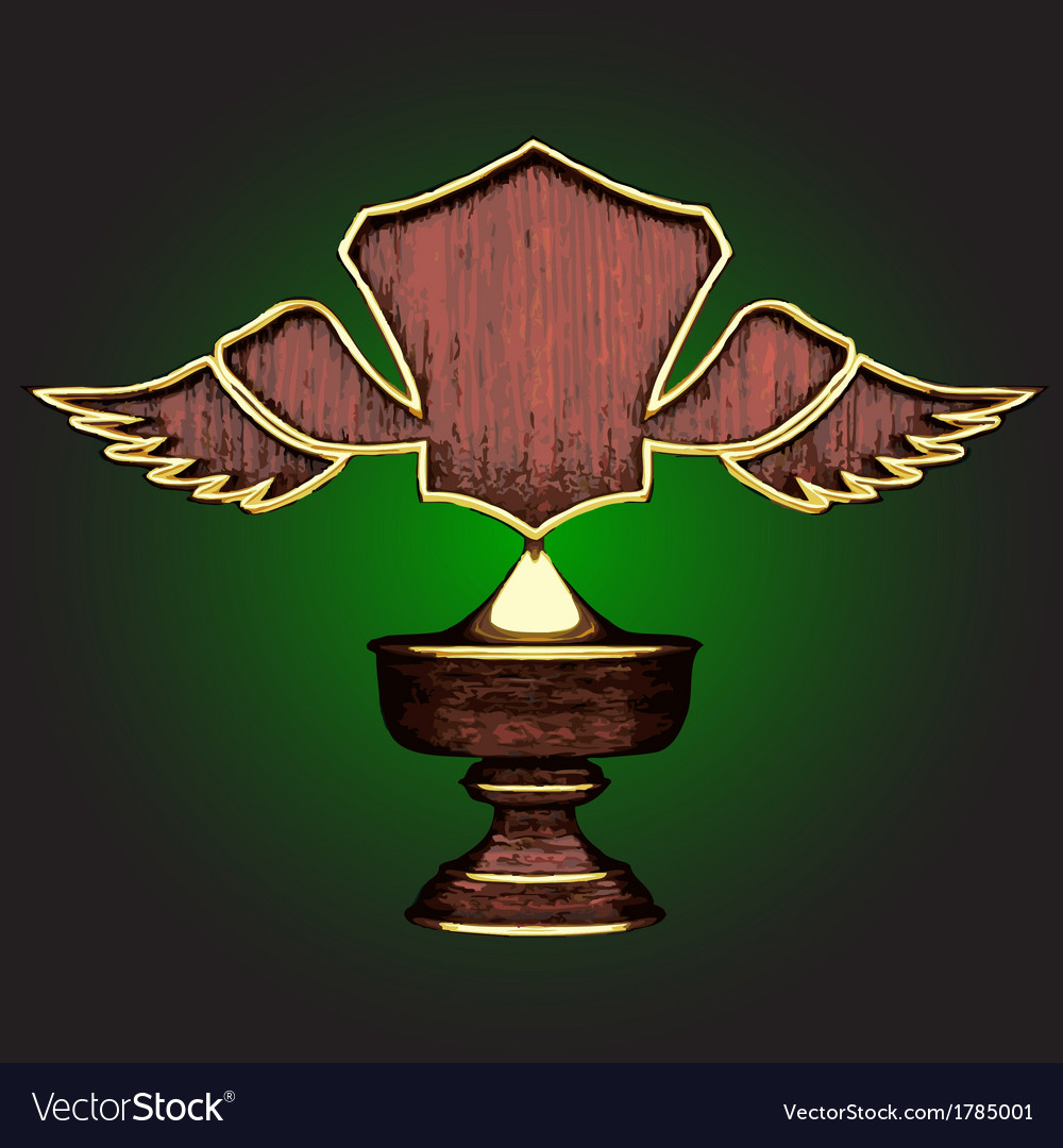 Wooden award vector | Price: 1 Credit (USD $1)