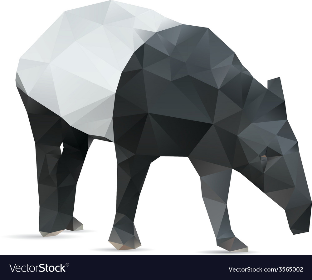 Abstract tapir vector | Price: 1 Credit (USD $1)