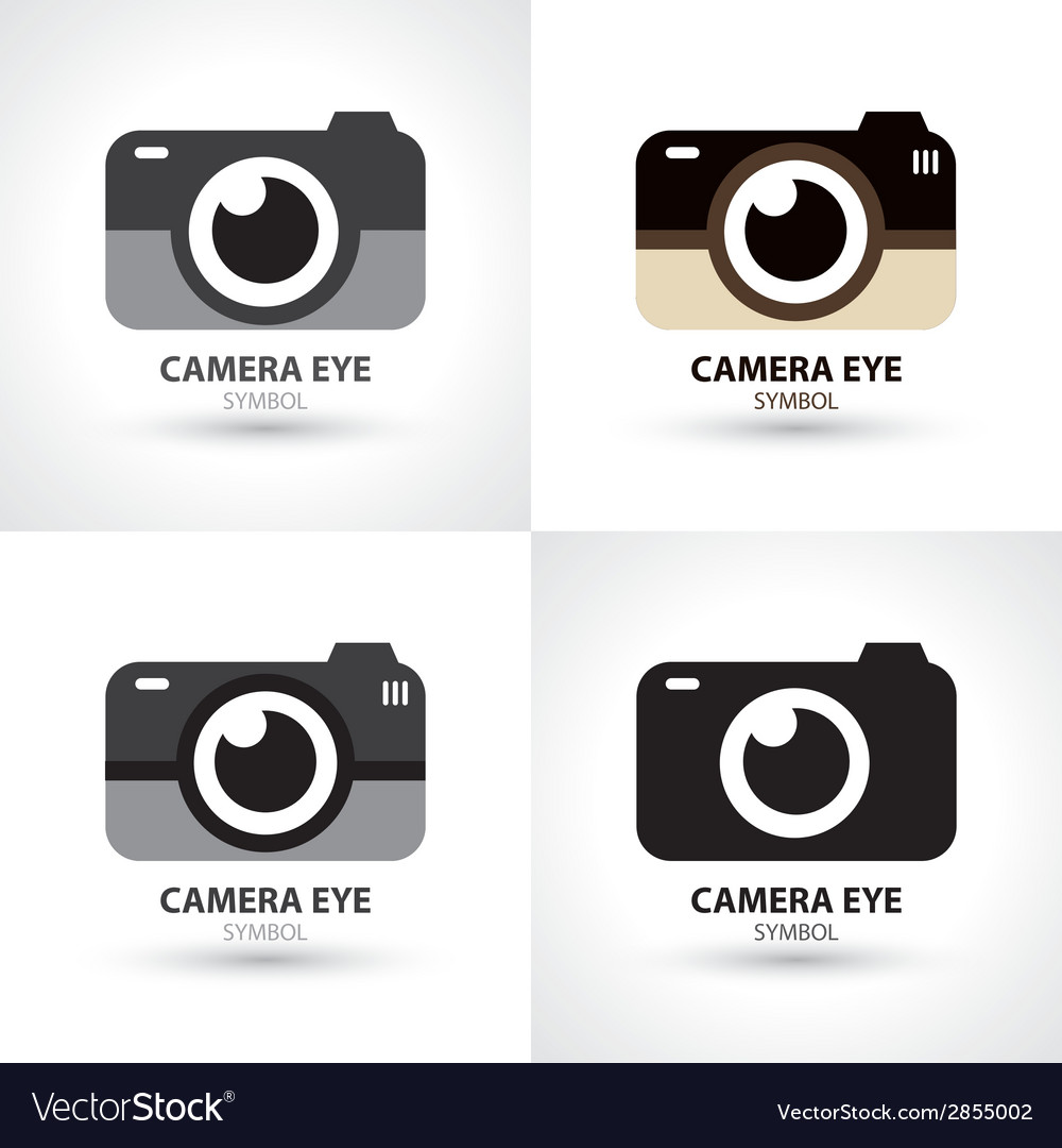Camera eye symbol icon vector | Price: 1 Credit (USD $1)