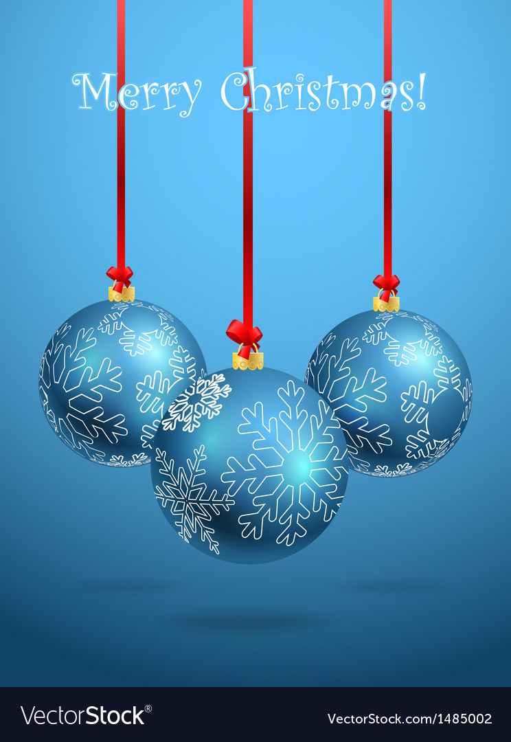 Christmas balls with ornament of snowflakes vector | Price: 1 Credit (USD $1)
