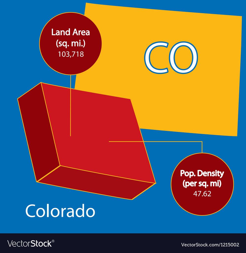 Colorado 3d info graphic vector | Price: 1 Credit (USD $1)