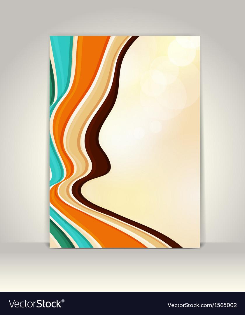 Flyer or brochure template abstract retro design vector   Price: 1 Credit (USD $1)