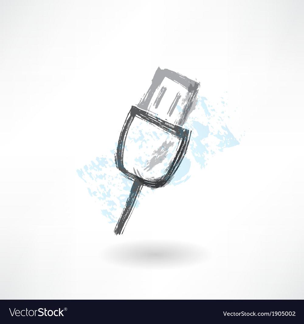 Key grunge icon vector | Price: 1 Credit (USD $1)