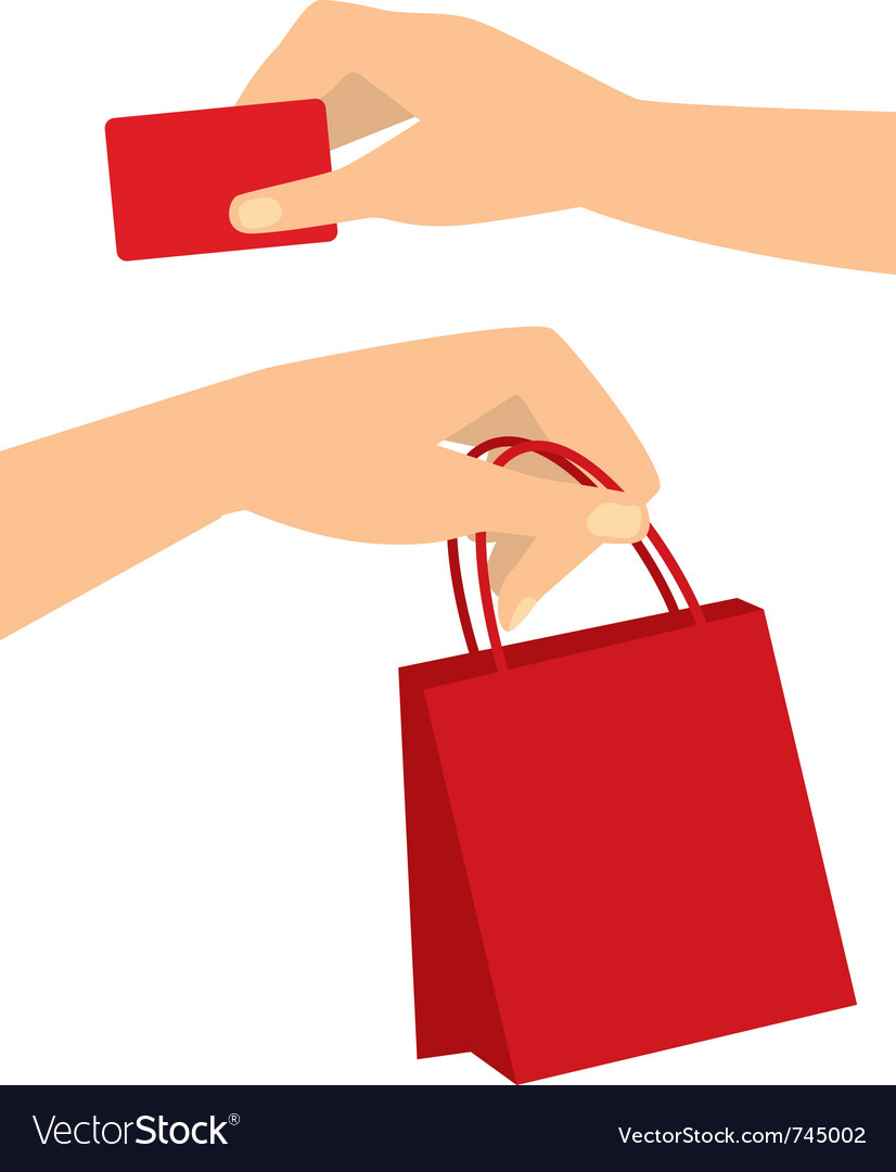 Shopping hands vector | Price: 1 Credit (USD $1)